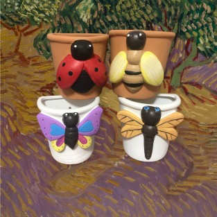 Clay Insect Wall Planter