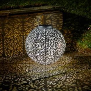 Jumbo Solar Damasque Lantern