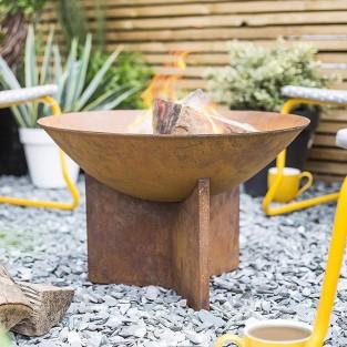 Kala Fire Pit - Oxidised Steel & Cast Iron