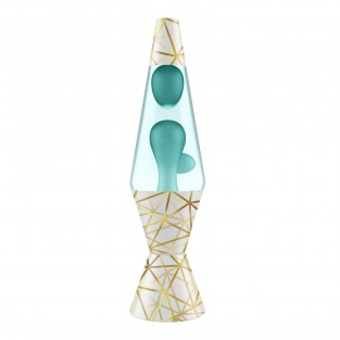 "14.5"" LAVA Brand Geometric Base Lava Lamp - Blue/Clear"