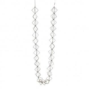 LED Silver Glitter Cube Light Chain
