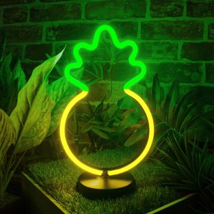 Pineapple LED Neon Table Light