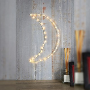LED Silhouette White Moon Wall Light