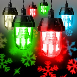 6 LED Snowflake Projector Lights