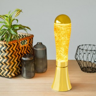 Magma Gold Glitter Lamp