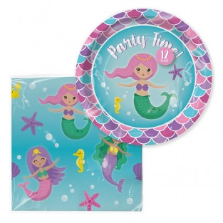 Mermaid Paper Tableware
