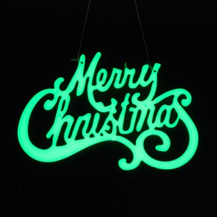 Merry Christmas Glow Sign
