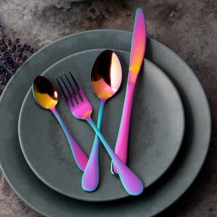 Mikasa Iridescent Stainless Steel Cutlery Set (16 Pieces)