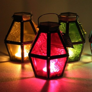 Mini Recycled Iron & Glass Lantern LT170