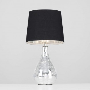 Levon Mirrored Tile Table Lamp