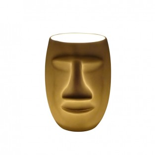 Moai Man Face Porcelain Tealight Holder