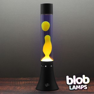 MODERN Blob Lamp - Black Lava Lamp - Yellow/Purple