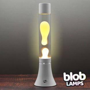 """MODERN Blob Lamp White 14.5"""" - Warm White/Clear"""