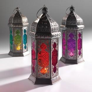 Moroccan 30cm Tonal Glass Lantern