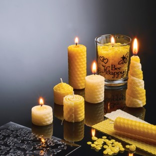 Natural Beeswax Candle Kit