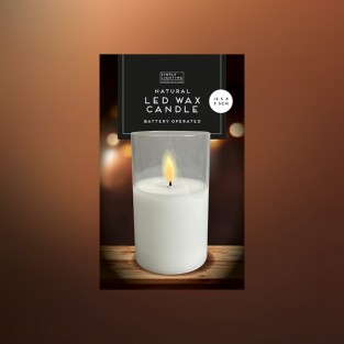 Natural Wax LED Candle