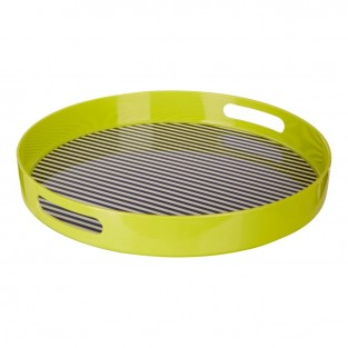 Neon Green Stripe Tray