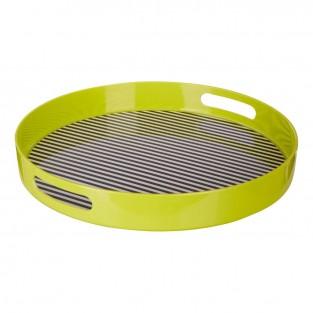 Neon Green Stripe Tray