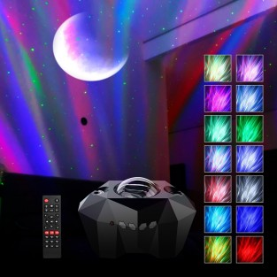 Northern Lights Aurora Moon and Star Projector and Speaker