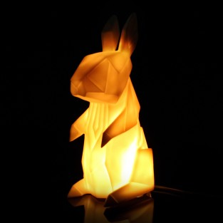Origami Rabbit Lamp