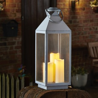 Oslo Cream Battery Operated Lantern