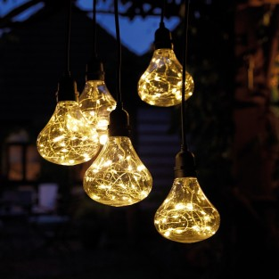 Outdoor Hanging Chandelier - Battery Operated