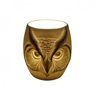 Owl Face Porcelain Tealight Holder