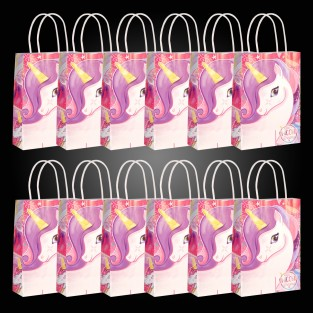 Unicorn Paper Party Bags (12 pack)