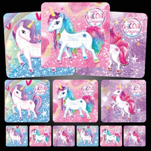 Unicorn Jigsaw Puzzle (12 pack)