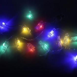 Peg String Light Multi Coloured