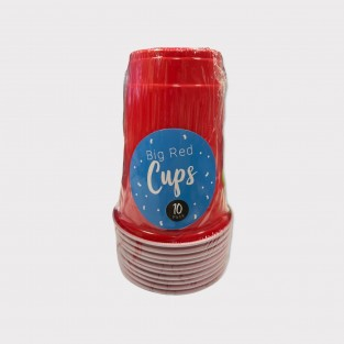 Big Red 18oz Party Cups x 10