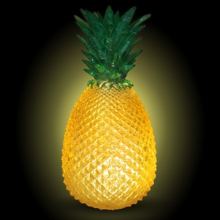 Cut Glass Effect Pineapple Lamp