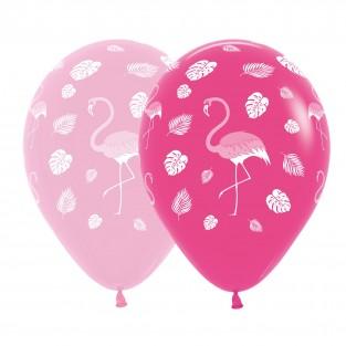 25 x Pink Flamingo Balloons