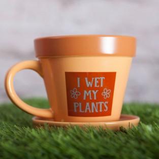 Plant Pot Mug - I Wet My Plants