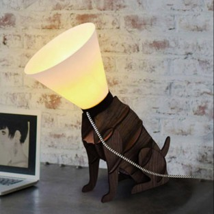 Poorly Dog Cone Lamp (19041)