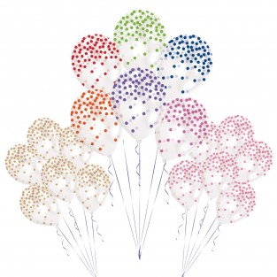 Printed Confetti Balloons (6 pack)