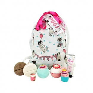 Pugs and Kisses Cotton Gift Bag