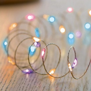 Rainbow 100 LED Micro Bright Timer Lights