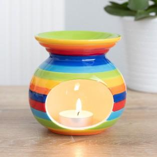 Rainbow Stripe Oil Burner
