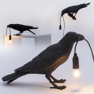 Seletti Black Raven Lamp