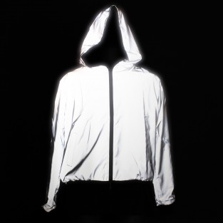 Reflective Hooded Bomber Jacket