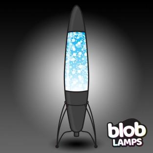 "Blob Lamp 17"" ROCKET Matt Black Glitter Lamp"