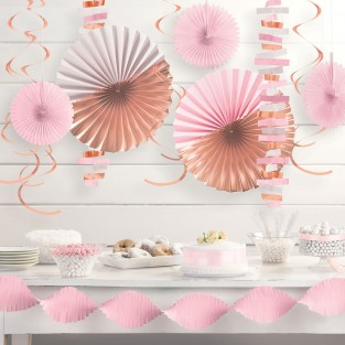 Room Party Decoration Kit - Rose Gold Blush