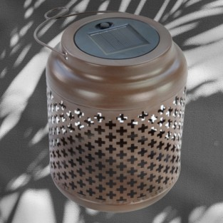 Rustic Solar Lantern (3896)