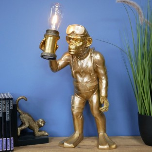 Scuba Steve Monkey Lamp