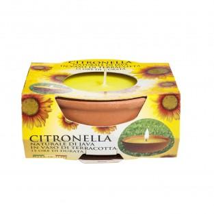 Small 15 Hour Citronella Terracotta Candle Pot