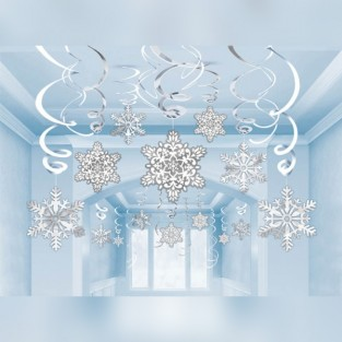 Snowflake Swirl Decorations