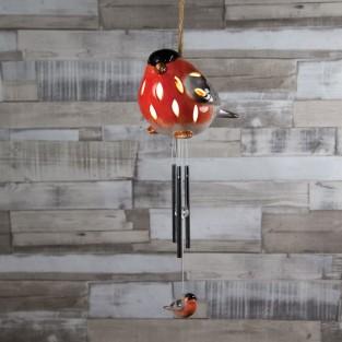 Solar Bullfinch Windchime