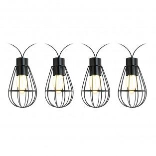 Solar Caged Bulb String Lights
