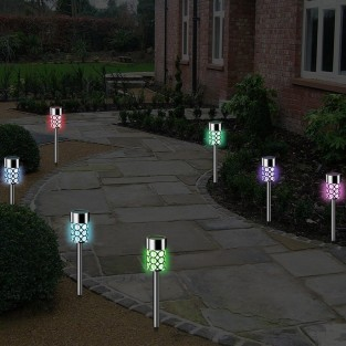 Solar Crystal Stake Lights (4 pack)